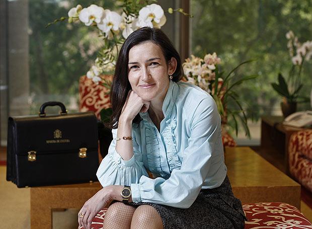 La ex ministra Sinde.