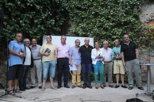 Momento del homenaje en el Corral de las Cigüeñas. :: MARISA NÚÑEZ