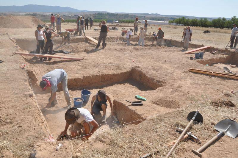 El yacimiento de Valdeherrera, ciudad romana donde nació Marcial. Foto: ÁNGEL DE CASTRO