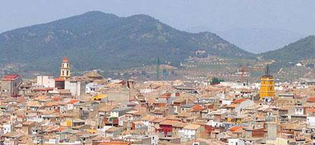 Vista general de Bullas (Murcia).