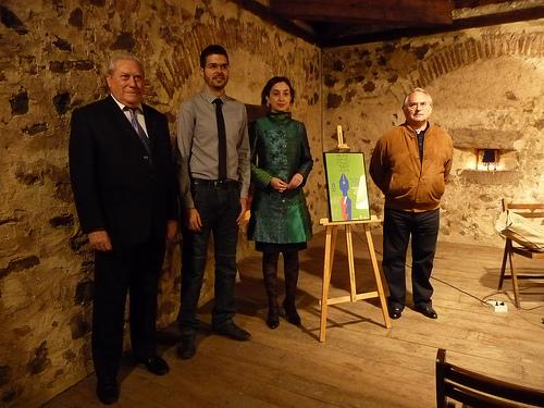 """Entrega de premios del Quinto Certamen de Relato Corto """"Fundación Villa de Pedraza"""" 2010."""