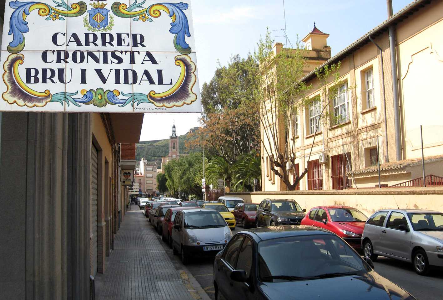 Sagunto (Valencia). Carrer Cronista Bru i Vidal.