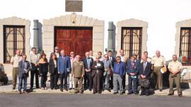 Los cronistas en la visita al Museo Militar. / Foto: CHCMCAN