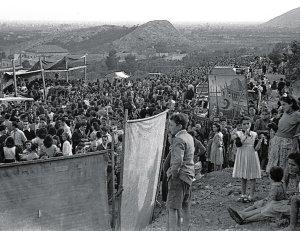Romería de San Isidro, años cuarenta. / Foto Ballester