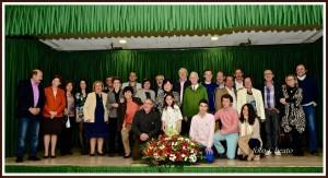 Todos los participantes en el homenaje