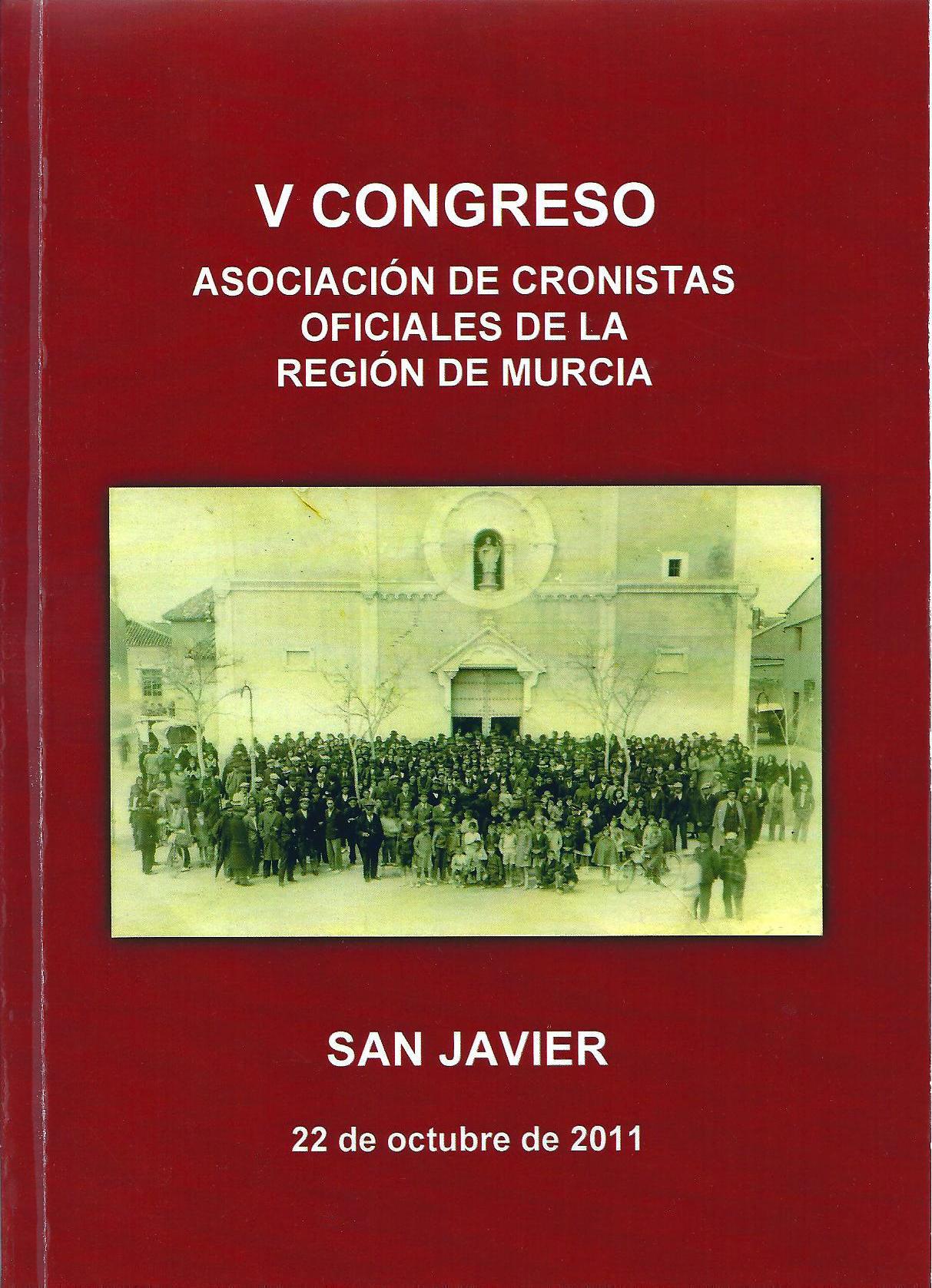 Portada libro Actas V Congreso