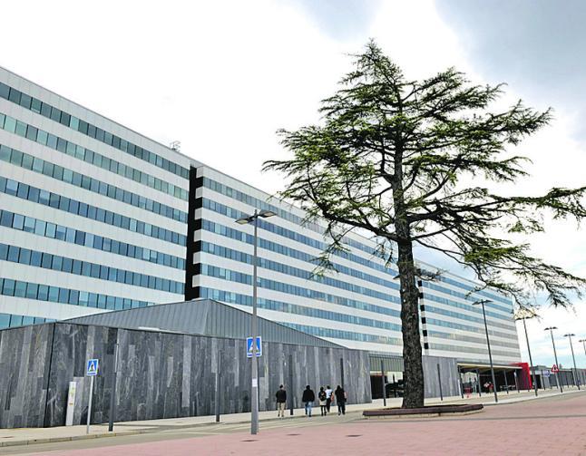 Fachada del nuevo hospital, en La Cadellada.