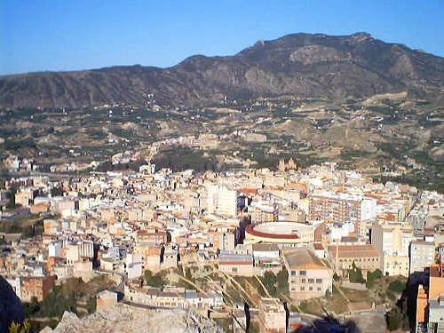 Vista general de Abarán (Murcia).