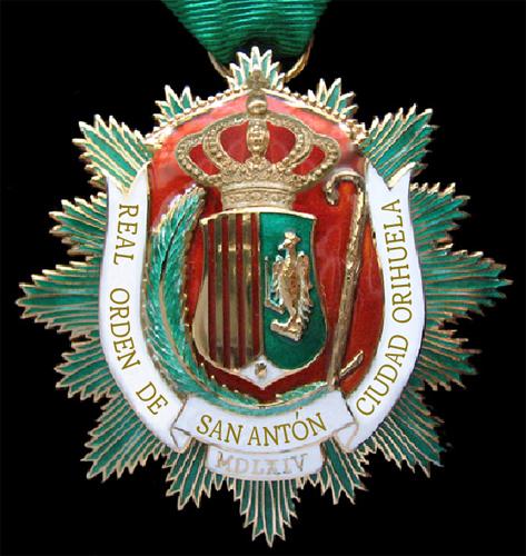 Medalla de la Real Orden de San Antón de Orihuela.