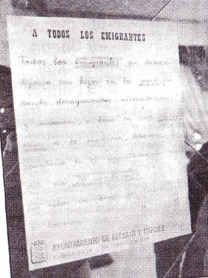 Bando Municipal, enero 1989.