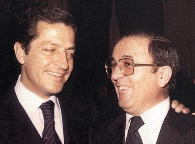 Adolfo Suárez y Juan Aurelio Sánchez Tadeo, en 1975.