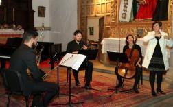 Imagen del concierto el pasado viernes en la iglesia de San Francisco (Foto TA)