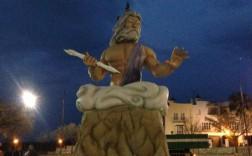 Falla de Mancha Real del año 2015 en recuerdo al Dios Zeus. / Youtube