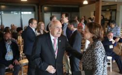 Adolfo Barthe Aza y Teresa Sanjurjo. en el VII Encuentro de Pueblos Ejemplares organizado por la Fundación Princesa de Asturias el año pasado. / CITOULA