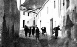 Carrer d´accés al Castell a principis dels segle XX / La Semana Gráfica, núm. 129