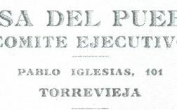 Membrete postal de la 'Casa del Pueblo de Torrevieja, año 1936.