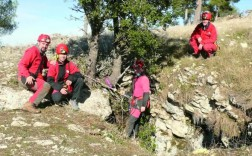 Miembros del grupo de espeología de Villacarrillo en una de sus salidas. (José Herreros)